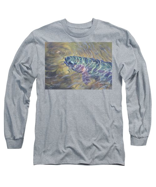 Long Sleeve T-Shirt featuring the painting  Rainbow Rising by Rob Corsetti