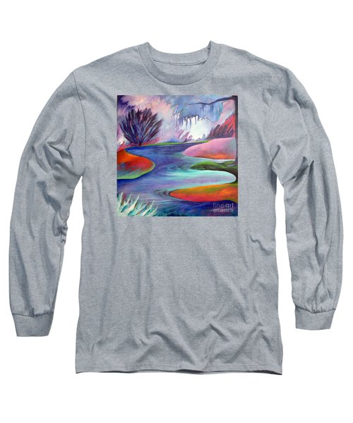 Blue Bayou Long Sleeve T-Shirt by Elizabeth Fontaine-Barr