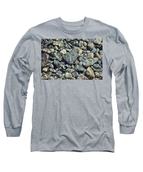 Long Sleeve T-Shirt featuring the photograph River Rocks One by Chris Thomas