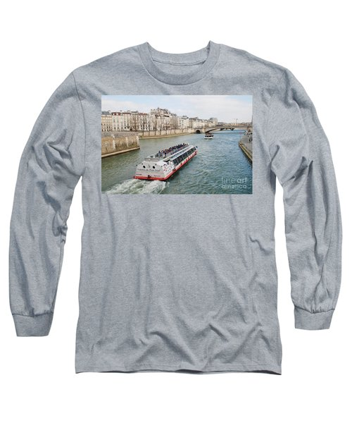 River Seine Excursion Boats Long Sleeve T-Shirt
