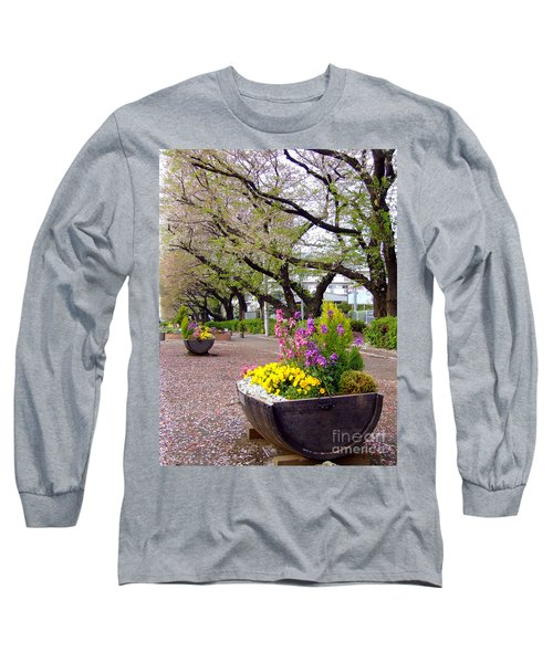 Long Sleeve T-Shirt featuring the photograph Road Of Flowers by Andrea Anderegg
