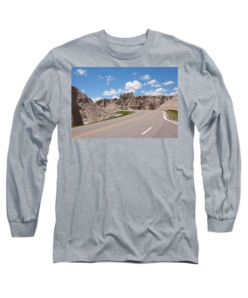 Road Through The Badlands Long Sleeve T-Shirt