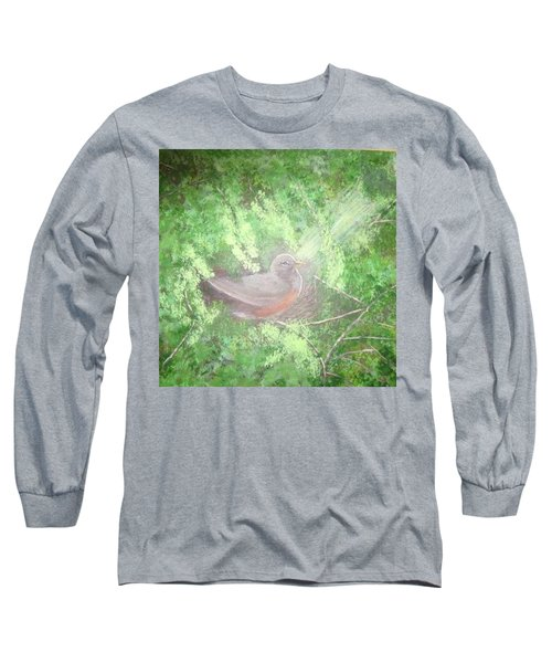 Robin On Her Nest Long Sleeve T-Shirt