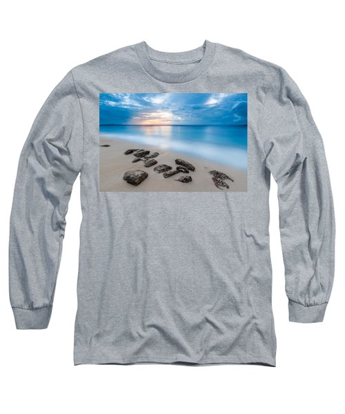 Long Sleeve T-Shirt featuring the photograph Rocks By The Sea by Mihai Andritoiu
