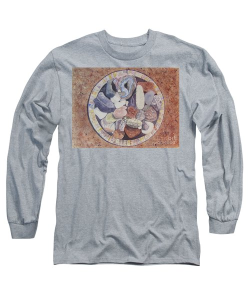 Long Sleeve T-Shirt featuring the painting Rocks by Carol Flagg