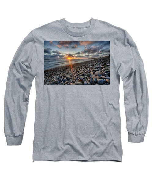 Rocky Coast Sunset Long Sleeve T-Shirt