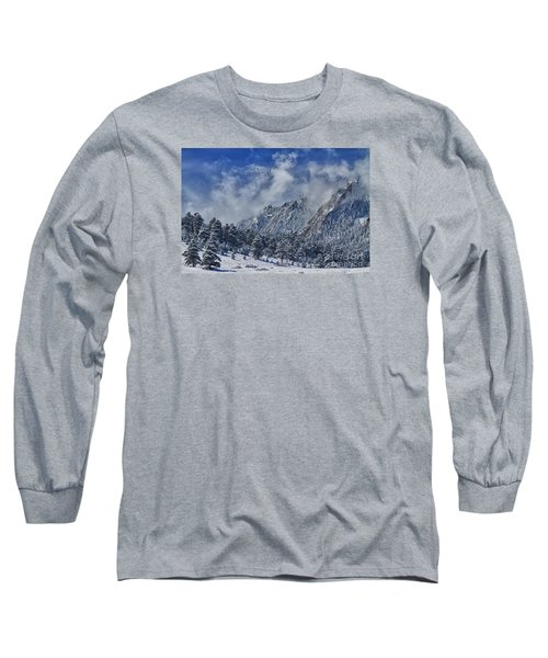 Rocky Mountain Dusting Of Snow Boulder Colorado Long Sleeve T-Shirt