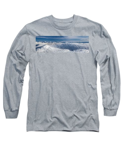 Long Sleeve T-Shirt featuring the photograph Rocky Mountain Winter by Aaron Aldrich