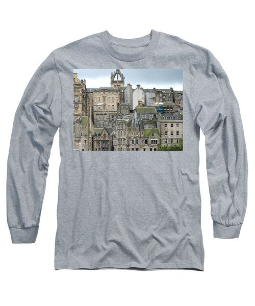 Roofs Of Edinburgh  Long Sleeve T-Shirt by Suzanne Oesterling