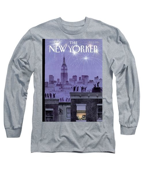 Rooftop Revelers Celebrate New Year's Eve Long Sleeve T-Shirt