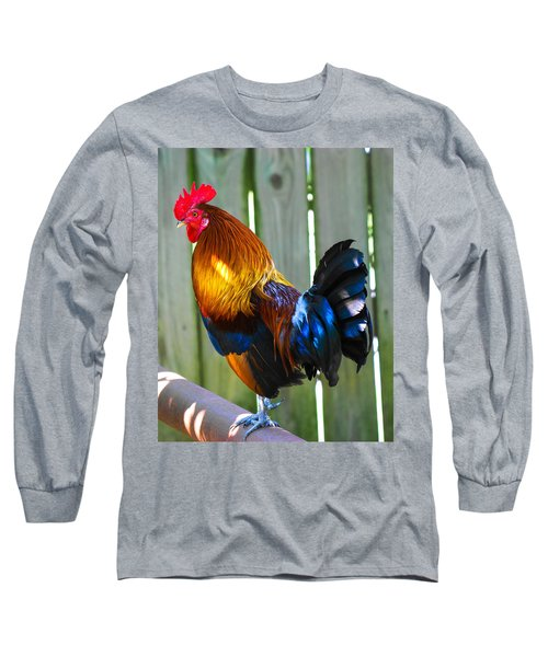 Rooster Long Sleeve T-Shirt by Robert L Jackson