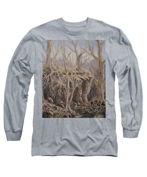 Long Sleeve T-Shirt featuring the painting Roots by Megan Walsh