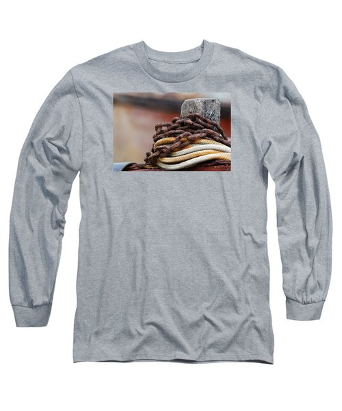 Long Sleeve T-Shirt featuring the photograph Rope And Chain by Wendy Wilton