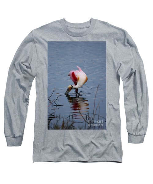 Roseate Spoonbill Twist Long Sleeve T-Shirt
