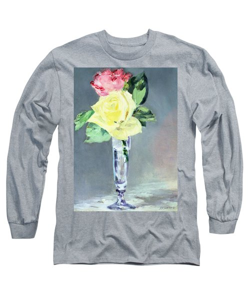 Roses In A Champagne Glass Long Sleeve T-Shirt