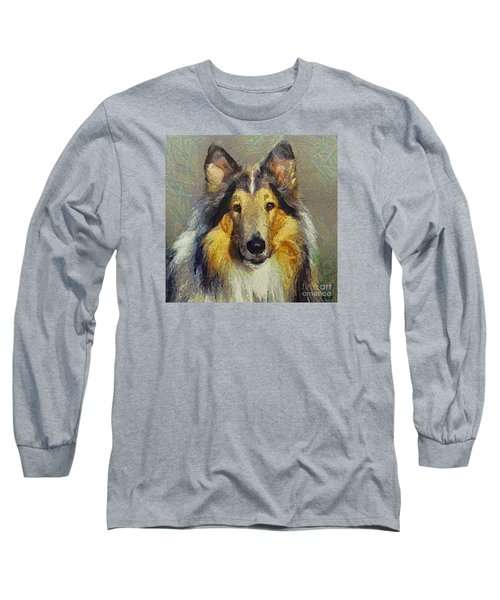 Rough Collie Long Sleeve T-Shirt by Dragica  Micki Fortuna