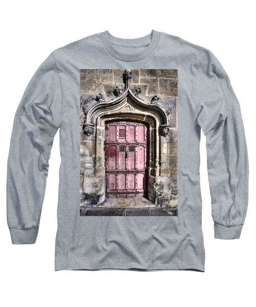Ruins With Red Door Long Sleeve T-Shirt