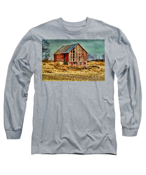Rural Rustic Vermont Scene Long Sleeve T-Shirt
