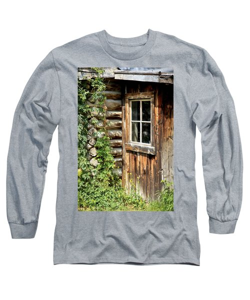 Rustic Cabin Window Long Sleeve T-Shirt
