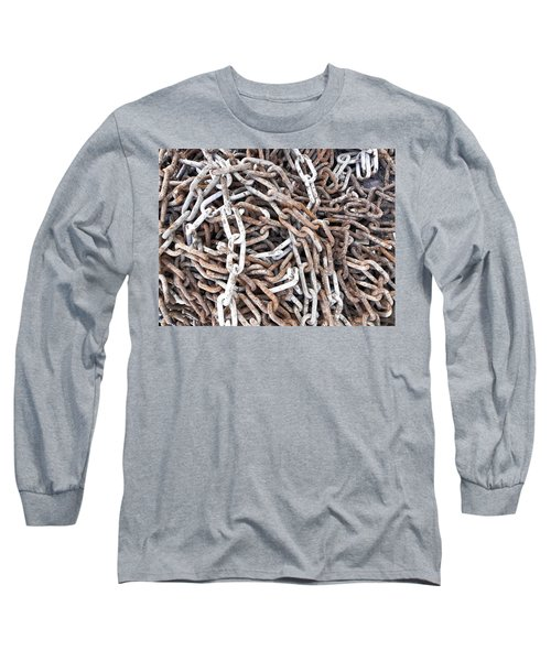 Long Sleeve T-Shirt featuring the photograph Rusty Links by Cheryl Hoyle