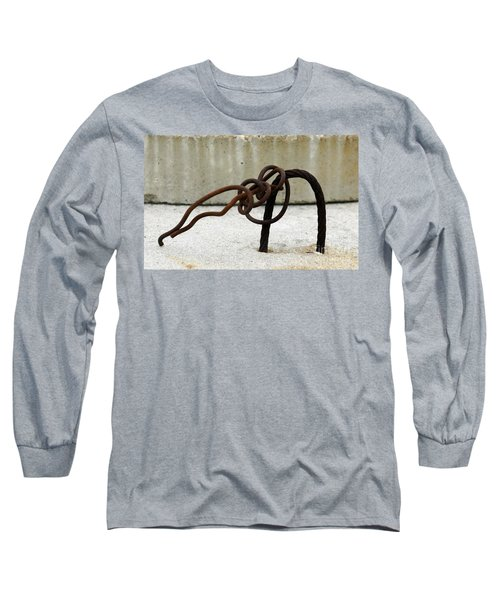 Long Sleeve T-Shirt featuring the photograph Rusty Twisted Metal I by Lilliana Mendez