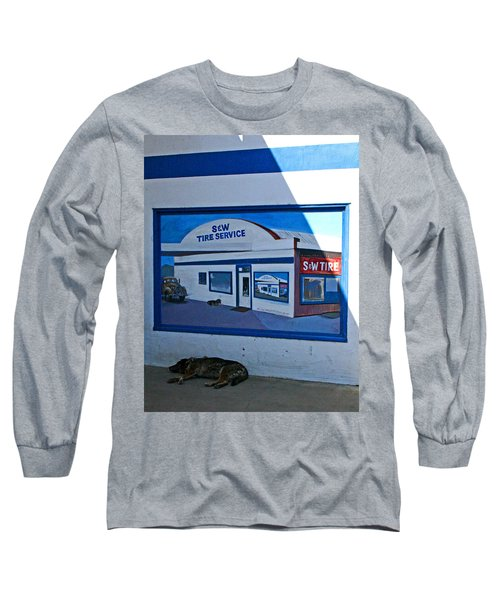 S And W Tire Service Mural Long Sleeve T-Shirt