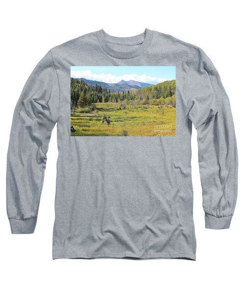 Long Sleeve T-Shirt featuring the photograph Saddle Mountain by Ann E Robson