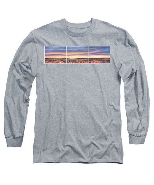 Sagebrush Sunset Triptych Long Sleeve T-Shirt