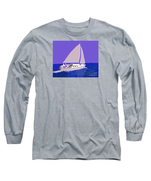 Sailing Blue Ocean Long Sleeve T-Shirt