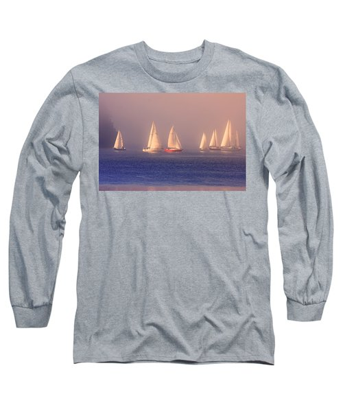 Sailing On A Misty Ocean Long Sleeve T-Shirt