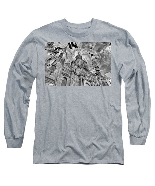 Long Sleeve T-Shirt featuring the photograph Saint Louis Cathedral And Spirits by Ron White