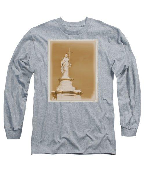Saint With A Cross Long Sleeve T-Shirt