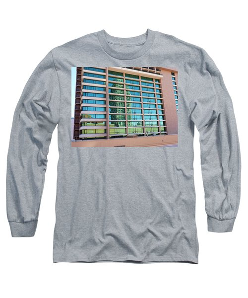 Long Sleeve T-Shirt featuring the photograph Salt Lake City Architecture Reflection by Ely Arsha