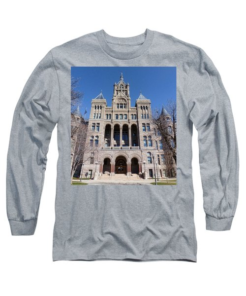 Long Sleeve T-Shirt featuring the photograph Salt Lake City - City Hall - 2 by Ely Arsha