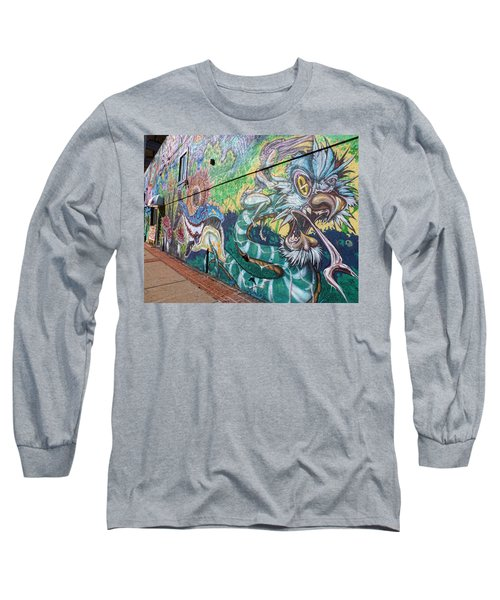 Long Sleeve T-Shirt featuring the photograph Salt Lake City - Mural 2 by Ely Arsha