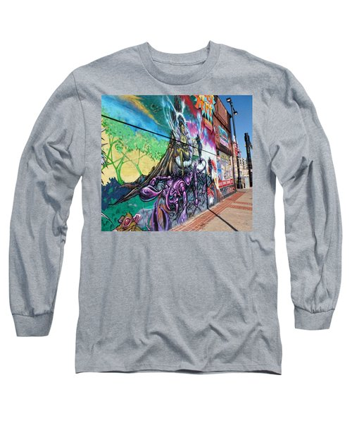 Long Sleeve T-Shirt featuring the photograph Salt Lake City - Mural 3 by Ely Arsha