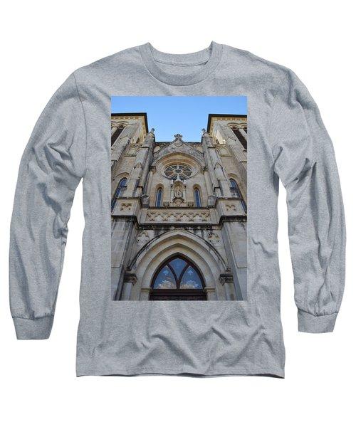 San Antonio Church 02 Long Sleeve T-Shirt by Shawn Marlow