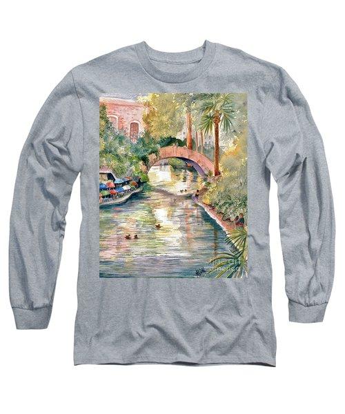 San Antonio Riverwalk Long Sleeve T-Shirt by Marilyn Smith