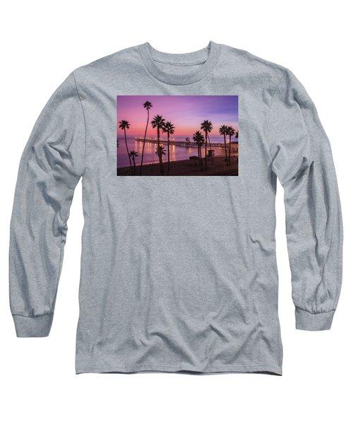 San Clemente Sunset Meditation Long Sleeve T-Shirt