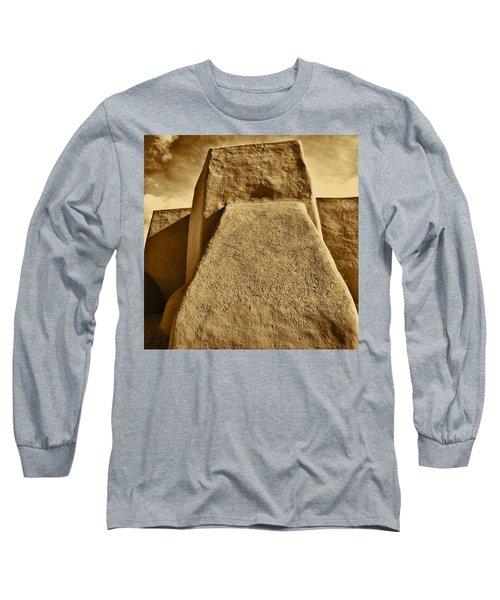 Long Sleeve T-Shirt featuring the photograph San Francisco De Asis Mission Church Taos by John Hansen