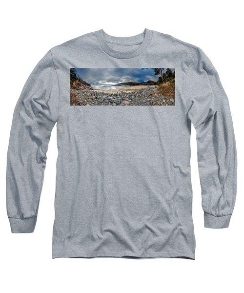 Sand Beach At Acadia Long Sleeve T-Shirt