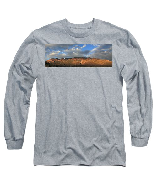 Sandia Crest At Sunset Long Sleeve T-Shirt
