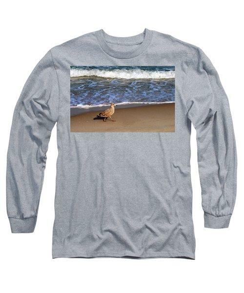 Sandpiper At Ortley Beach, Nj Long Sleeve T-Shirt