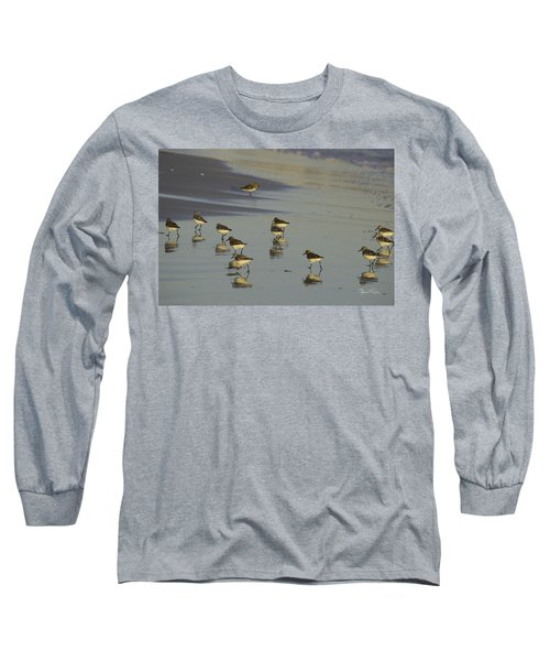 Sandpiper Sunset Reflection Long Sleeve T-Shirt