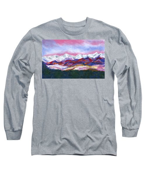Long Sleeve T-Shirt featuring the painting Sangre De Cristo Mountains by Stephen Anderson