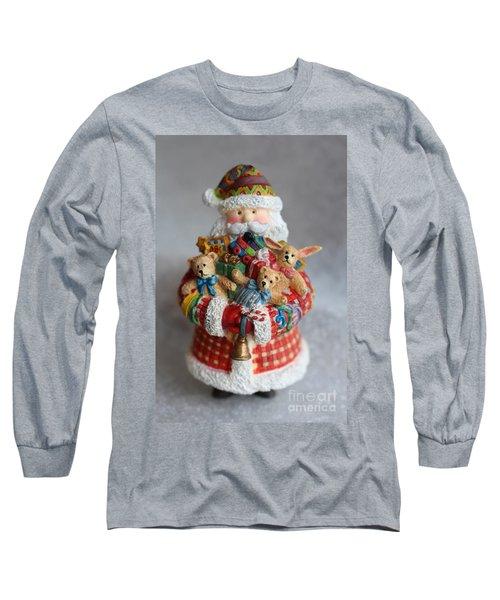 Santa Claus Long Sleeve T-Shirt by Ella Kaye Dickey