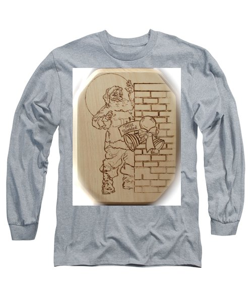 Santa Claus - Feliz Navidad Long Sleeve T-Shirt by Sean Connolly