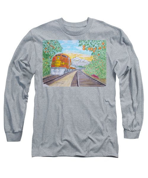 Santa Fe Super Chief Train Long Sleeve T-Shirt by Kathy Marrs Chandler