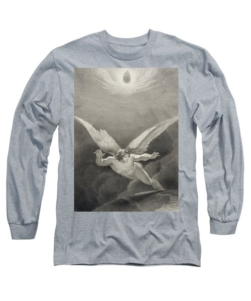 Satan Leaps Over The Walls Of Heaven Long Sleeve T-Shirt