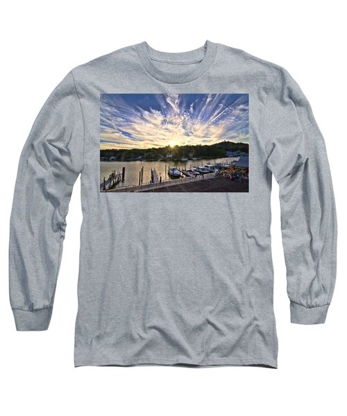 Long Sleeve T-Shirt featuring the photograph Saugatauk Sunset by John Hansen